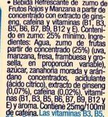 Energy fruit - Ingredientes - es