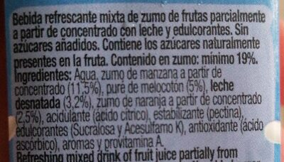Zumo mediterraneo - Nutrition facts - fr
