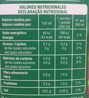 Nectar de melocoton light - Valori nutrizionali - pt