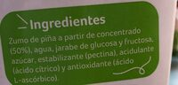 Néctar de piña - Ingredienti - es