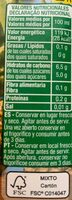 Nectar de piña light - Valori nutrizionali - es