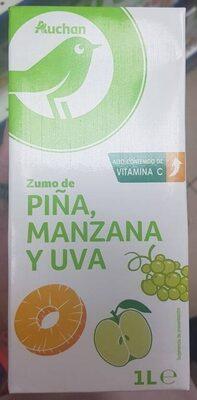 Zumo de piña, manzana y uva