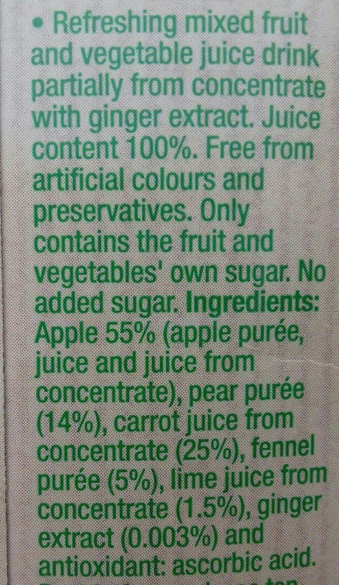 100%veggie - Ingrédients - fr
