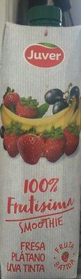 100% Frutísima bebida de zumo de fresa, plátano y uva tinta - Producto
