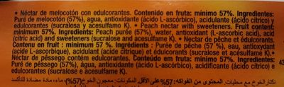 Zumo Juver Melocoton Cristal 20CL - Ingredients - fr