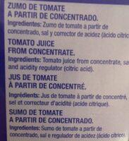 Tomate (tomato) - Ingrediënten