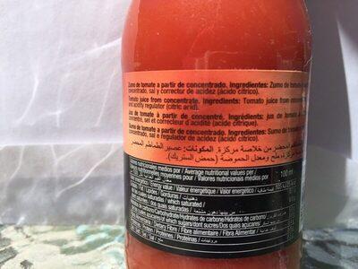 Zumo de Tomate - Ingredientes
