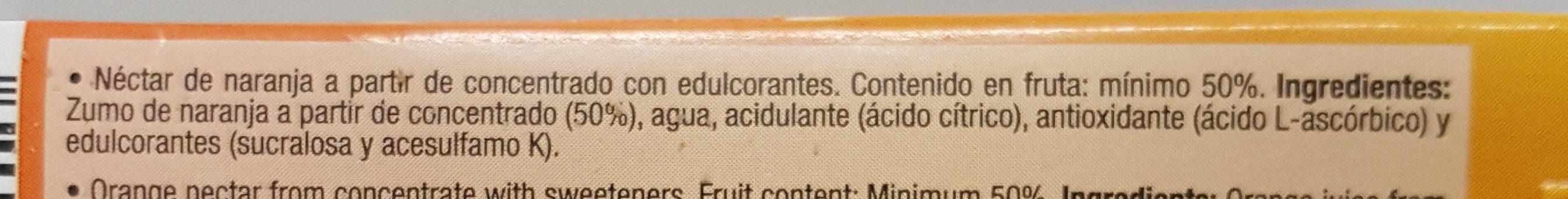 Disfruta Néctar Naranja - Ingredientes