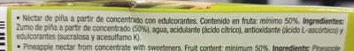 Zumo de piña - sin azúcares añadidos - Ingredientes - es