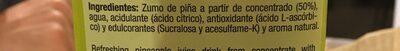 Disfruta Piña 2L - Ingrédients
