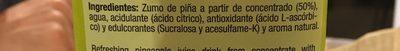 Disfruta Piña 2L - Ingredients