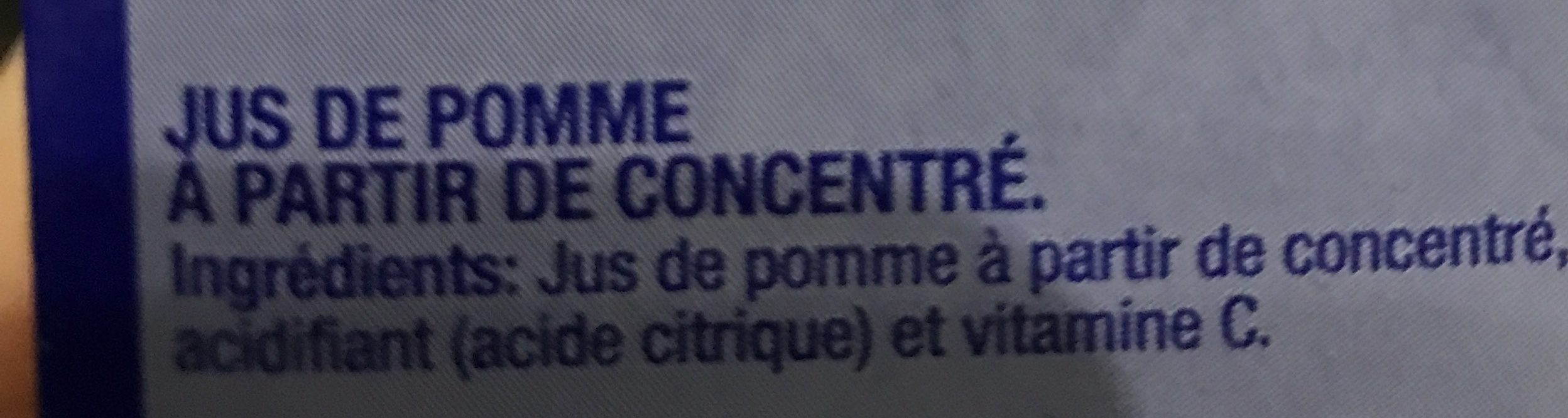 Manzana Apple Juice - Ingrédients - fr