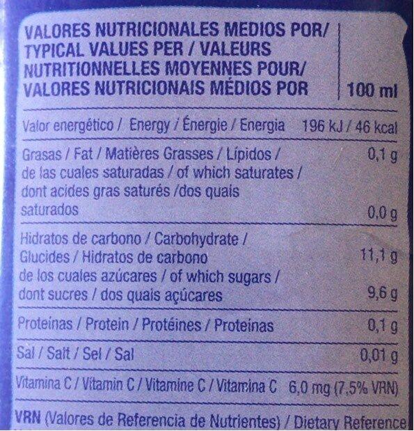 Manzana Apple Juice - Informations nutritionnelles - fr