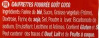 Galleta Coral Boer Coco 330GR. - Ingredients - fr