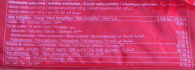 Galleta Coral Boer Coco 330GR. - Informació nutricional - fr