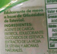 Truvía Edulcorante De Stevia En Polvo - Ingrédients