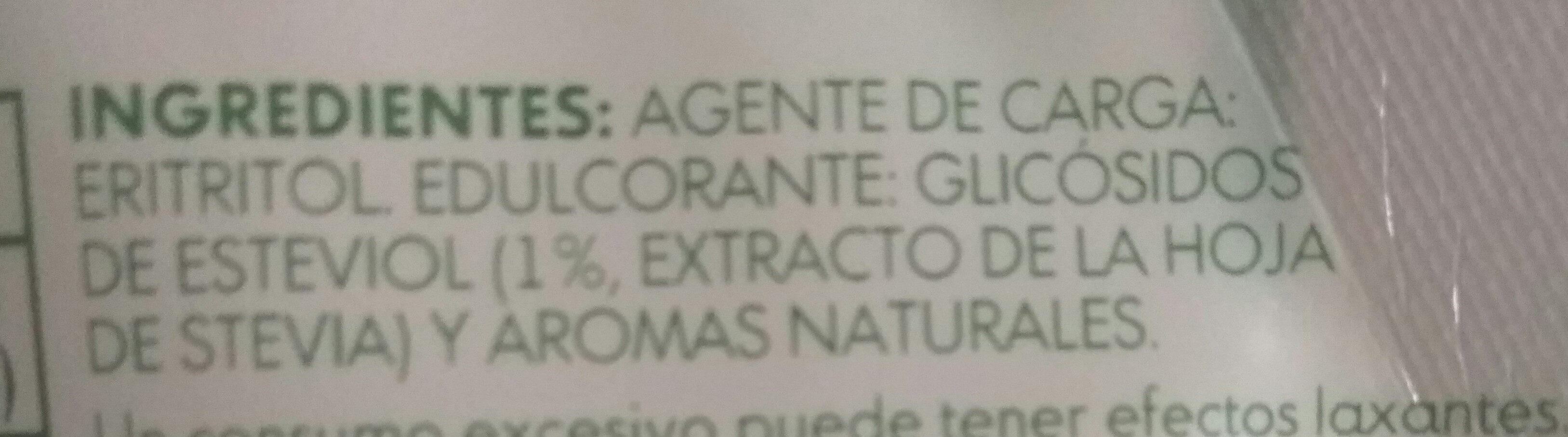 Truvía - Ingredientes - es