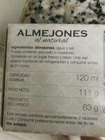 Almejones al natural - Produit