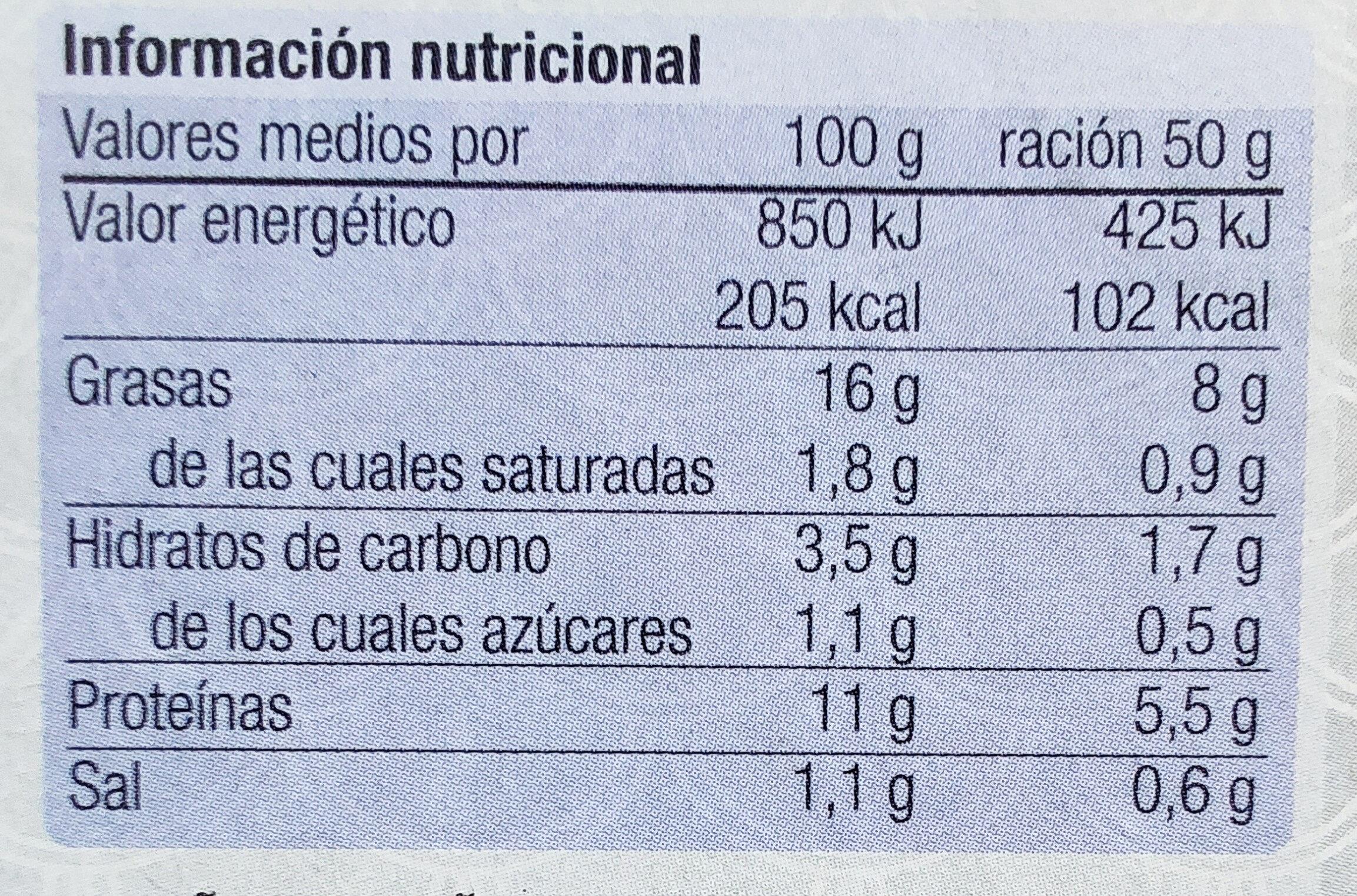 Almejas Blancas En Salsa Gallega - Informations nutritionnelles