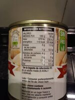 Almejas blancas del norte - Nutrition facts