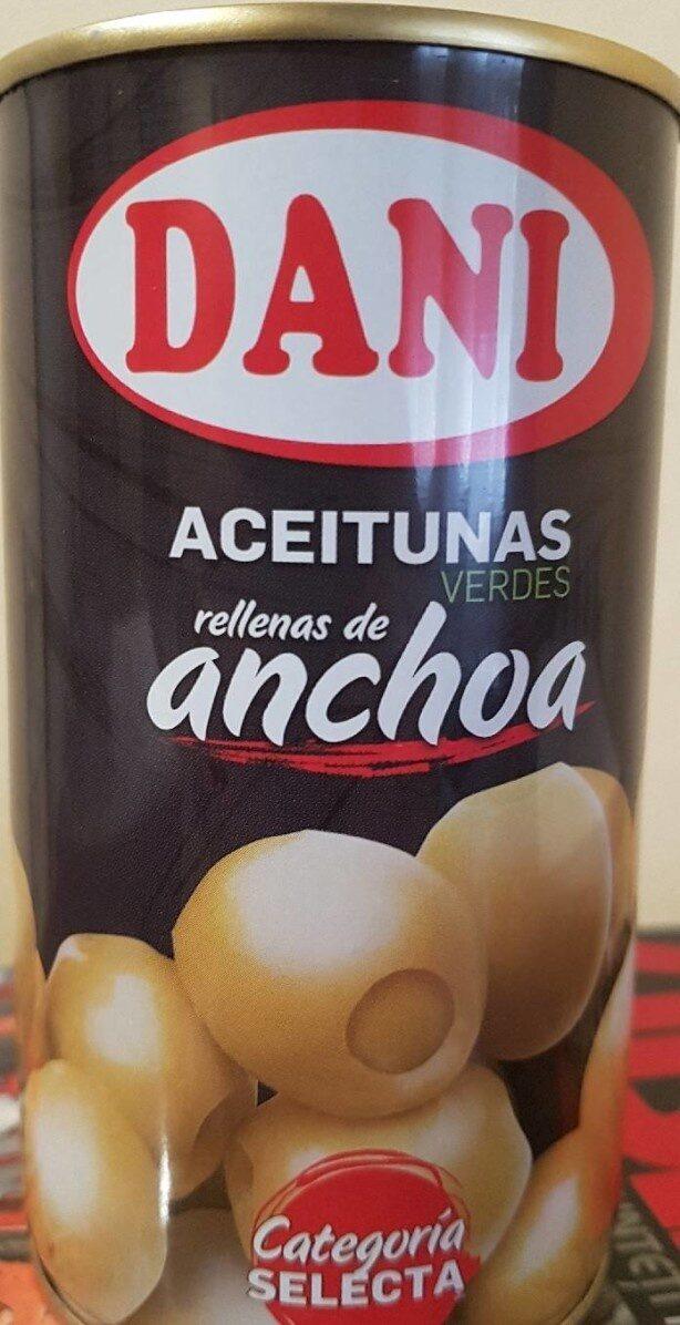 Aceitunas verdes manzanilla rellenas de anchoa Extra Grandes lata 150 g - Producto