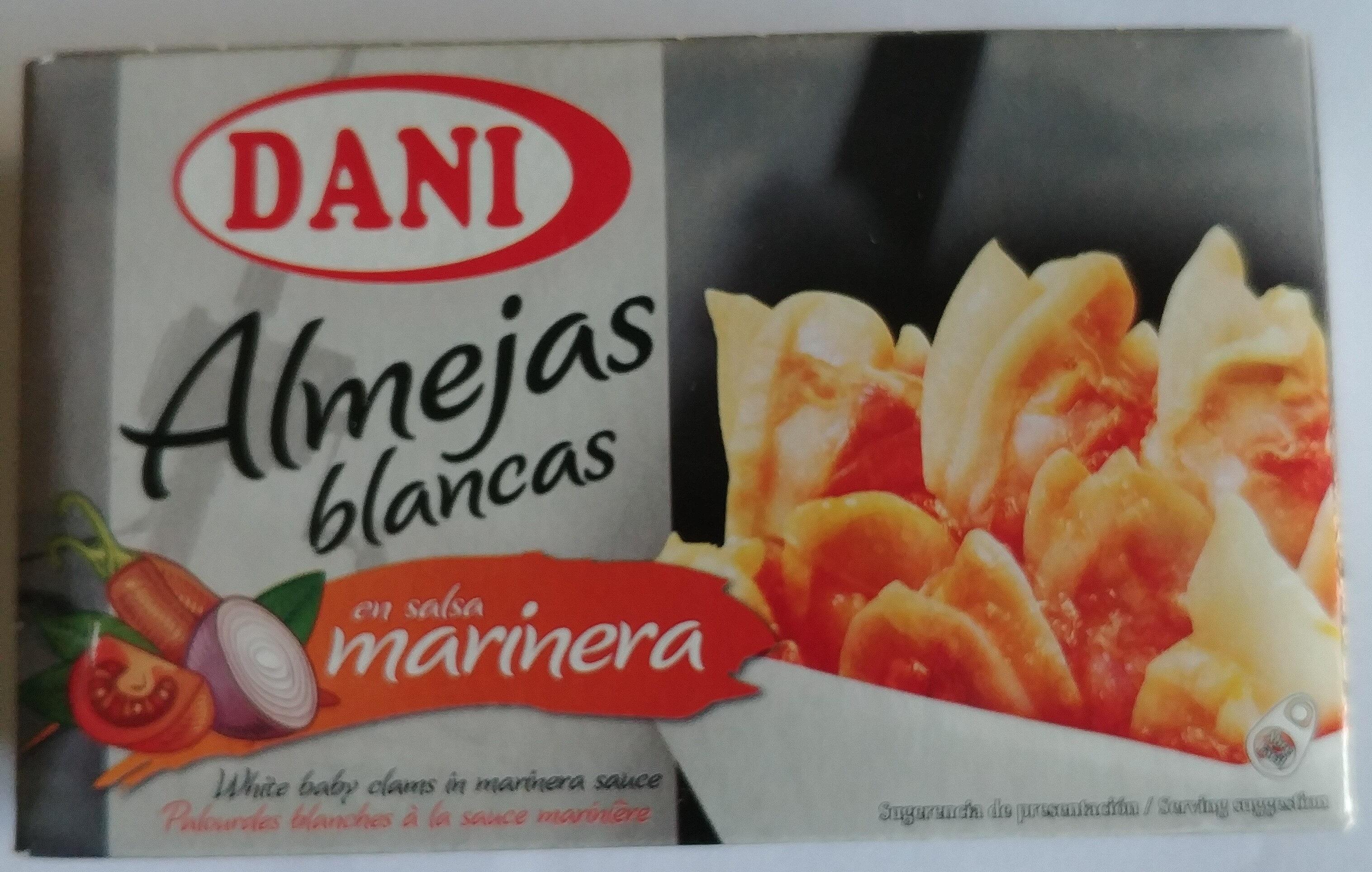 Almejas blancas en salsa marinera - Producto
