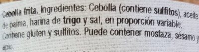 Cebolla frita - Ingredients