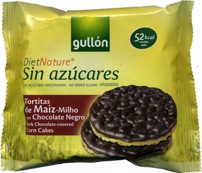 Tortitas de maíz con chocolate negro Diet Nature - Producto