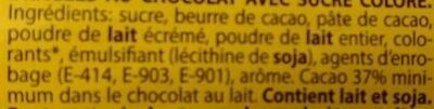 Lacasitos 1.500 grs. - Inhaltsstoffe