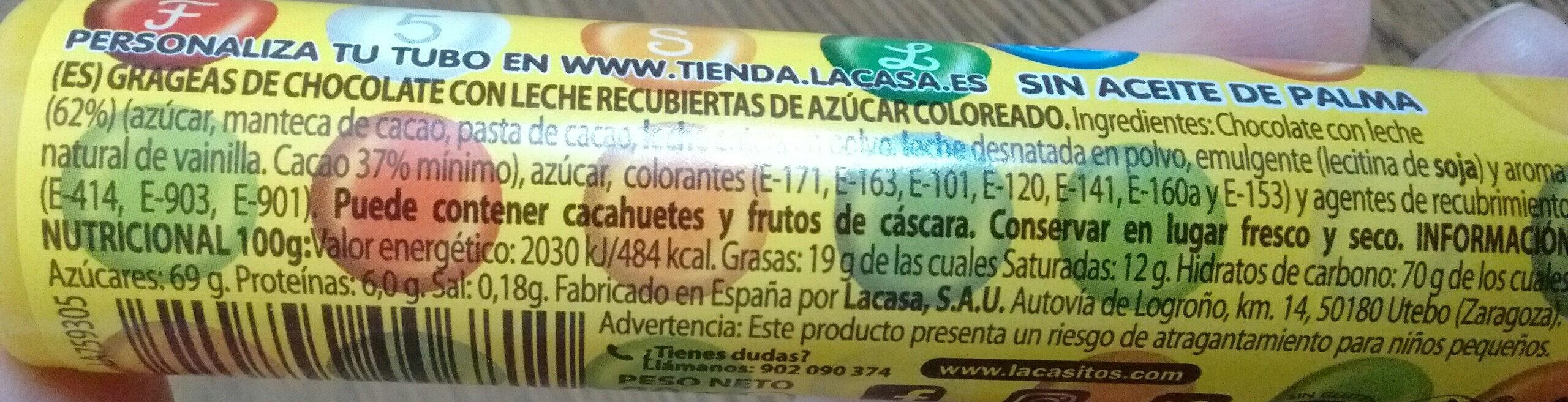 Lacasitos Tuber - Información nutricional - es