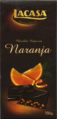 Chocolate negro con naranja 70% cacao - Producte