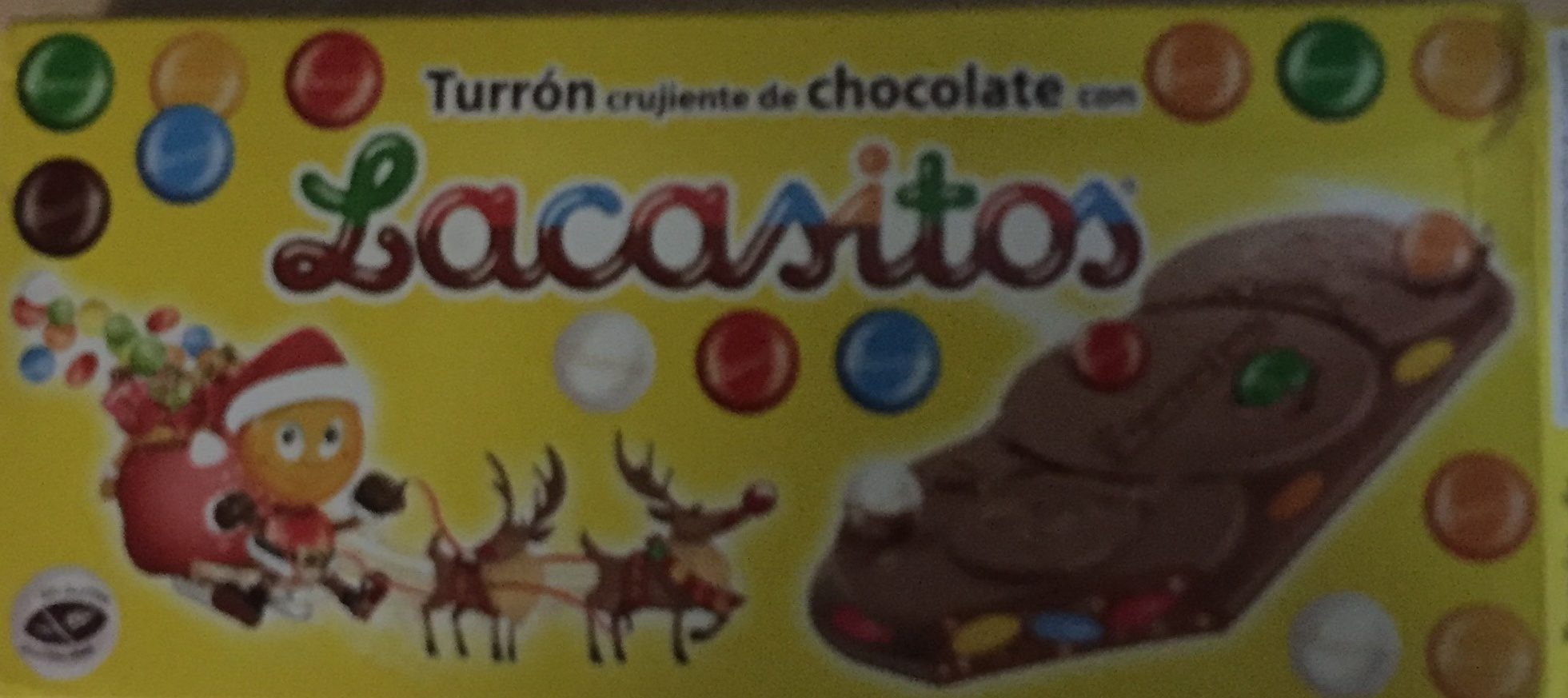 Turrón De Chocolate Con Lacasitos 200 Gr + 15 Gr Gratis - Product