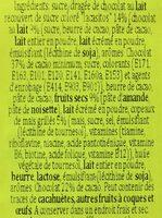 Turrón De Chocolate Con Lacasitos 200 Gr + 15 Gr Gratis - Ingredientes - fr