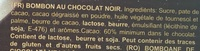 Bombones chocolate negro - Ingredientes