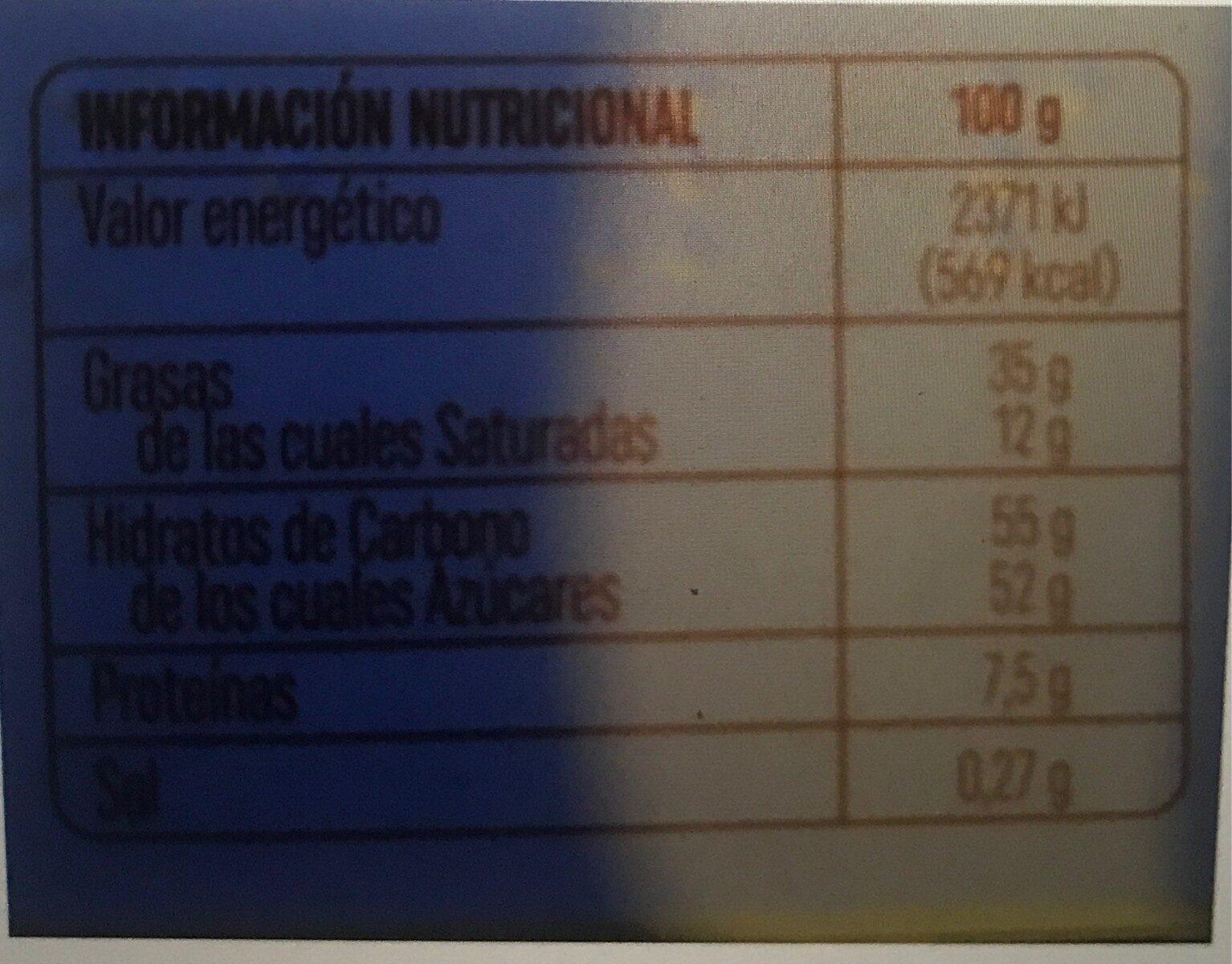 Chocolat saveur ananas - Voedingswaarden - fr