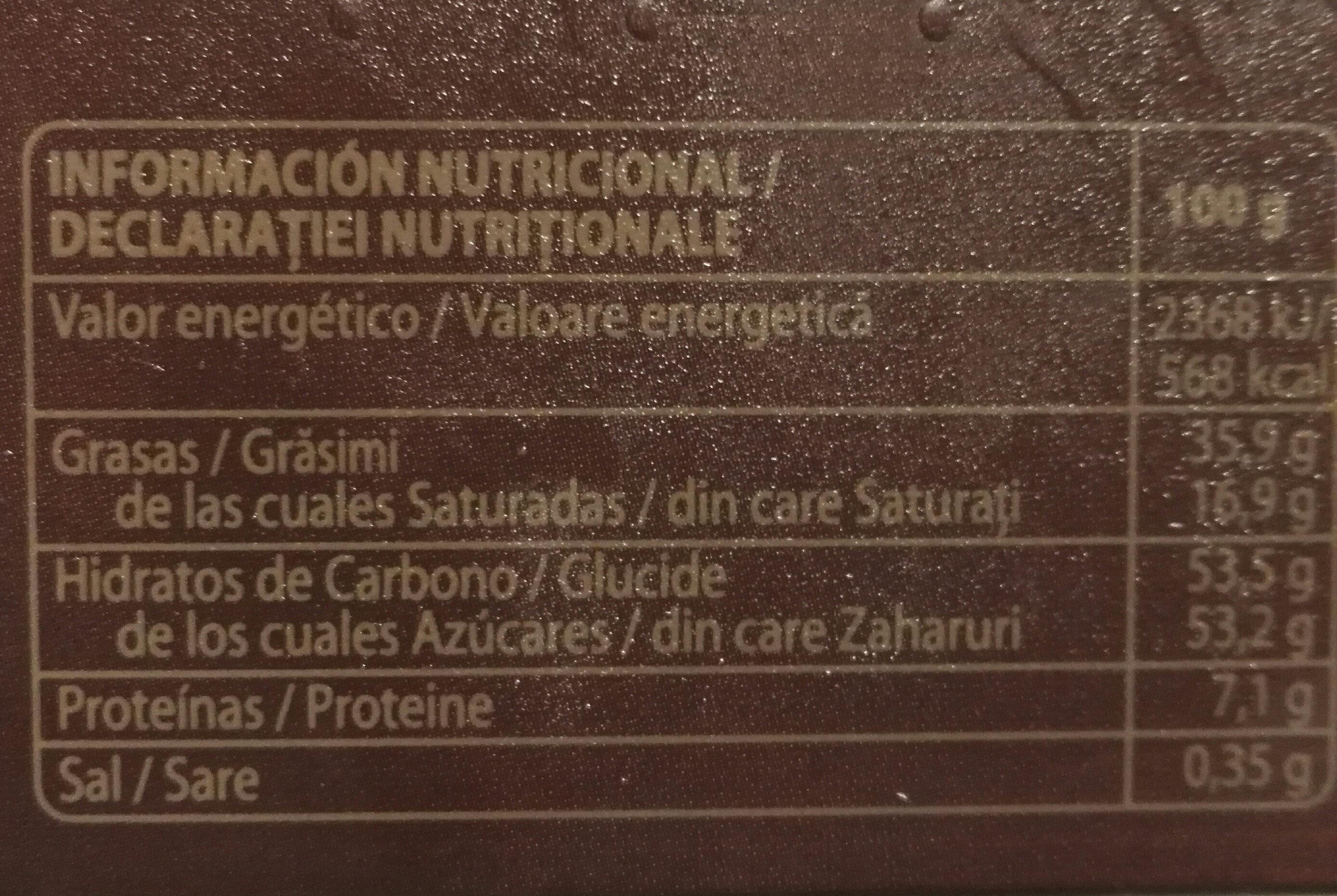 Turrón de praliné crema catalana - Informations nutritionnelles