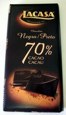Lacasa Chocolate Negro / Preto 70% cacau - Producto