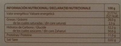Guirlache de almendra y caramelo - Informació nutricional