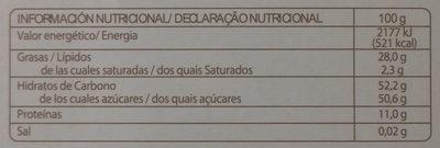 Guirlache de almendra y caramelo - Información nutricional - es