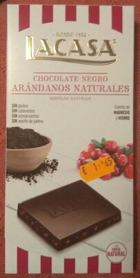 Chocolate negro arándanos