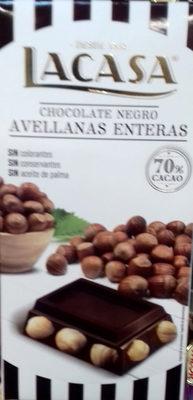 Chocolate negro avellanas enteras - Product