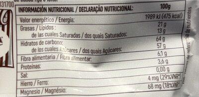 Mi momento arándanos naturales con chocolate - Valori nutrizionali - fr