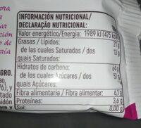 Arándanos Naturales Chocolate Negro - Valori nutrizionali - es