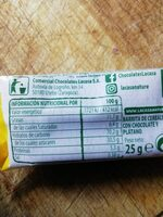 Barre de céréales au chocolat - Informació nutricional - es