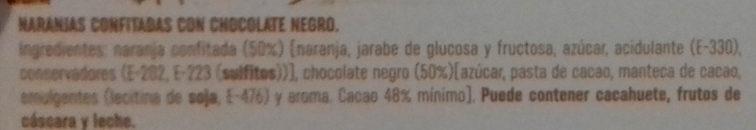 Taronja amb xocolata - Ingredientes