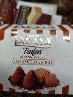 Trufas al cacao puro, caramelo y sal - Ingredients - es