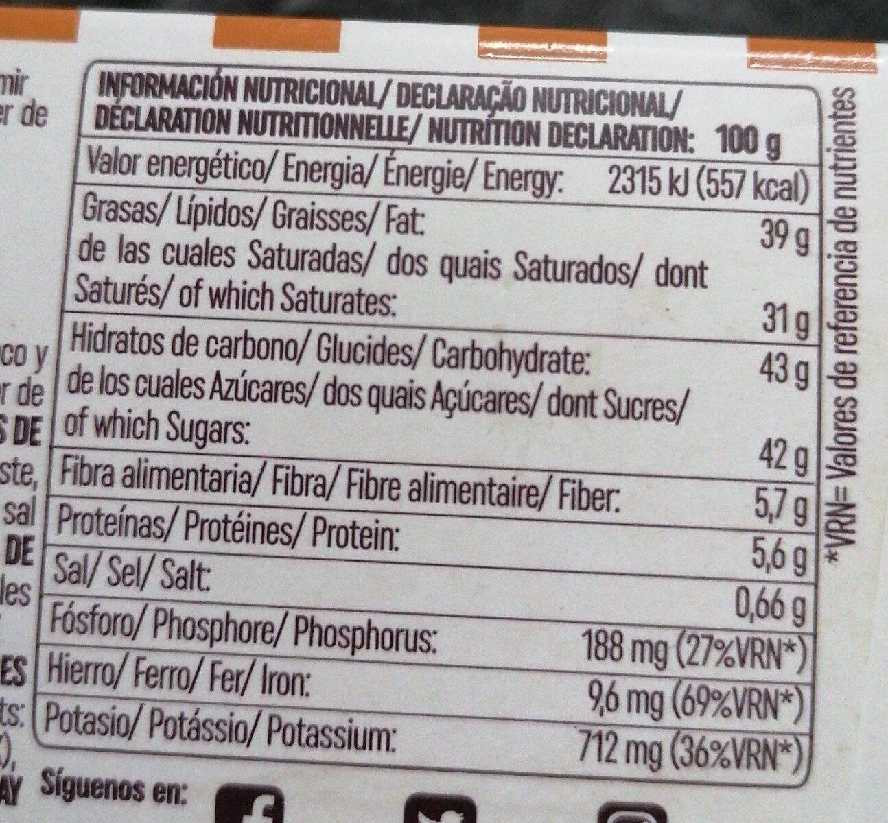 Trufas al cacao puro, caramelo y sal - Nutrition facts - es