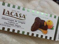 Albaricoque de Aragón confitado con chocolate negro - Prodotto - es