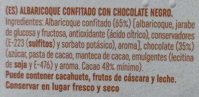 Albaricoque de Aragón confitado con chocolate negro - Ingredienti - es