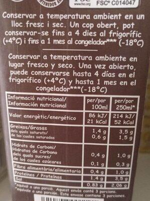 Caldo escudella 100% natural envase 1 l - Información nutricional - es